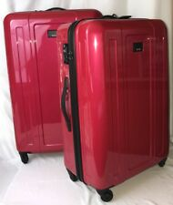 Tumi 2 Piece Luggage Set Hot Pink Red Extended Trip, Large Packing Suit Case Bag