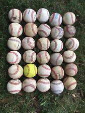 Lot Of 30Used Baseballs