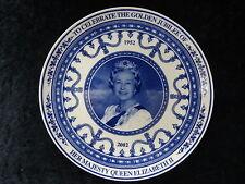 Wedgwood Commerative Plate - Queen Elizabeth II 2002 Golden Jubilee