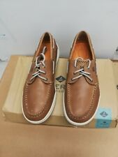 """MEN`S SPERRY TOP-SIDER """"GAMEFISH 3-EYE DK TAN"""" BOAT SHOES SIZE 11 M NEW"""