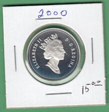 2000 Canadian Proof 50 Cents Coin From Set Sterling Silver.