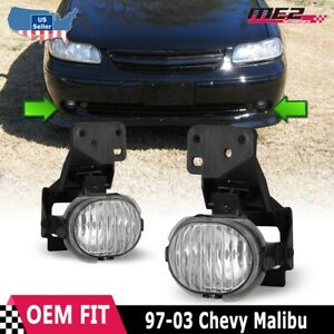 For Chevrolet Malibu 97-03 Factory Bumper Replacement Fit Fog Lights Clear Lens