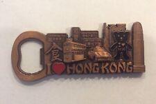 I Love Hong Kong Metal Bottle Opener Fridge Magnet