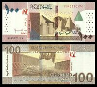 Sudan 100 Pounds 2019 P-NEW UNC