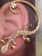 USA Gekko Lizard Earring Ear Cuff Wrap Stud Dragon Clear Bohemian Brides Maid