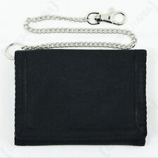 New BLACK Army Outdoor WALLET with Security Chain - Money Case Coin Military Bag