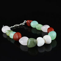 Earth Mined 182.00 Cts Multicolor Multi Gemstone Untreated Real Beads Bracelet