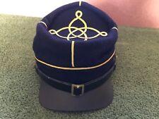 Civil War Era Reenactment Reproduction Leather & Wool Hat Cap Size M