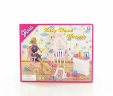 Gloria Dollhouse Furniture Baby Home Nursery Playset 11.5 Inches Doll Play