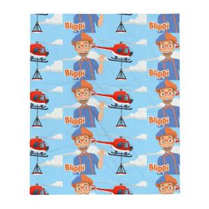 Blippi Kid's Character Youtube Cartoon Fun Cute Soft Cozy Colorful Throw Blanket