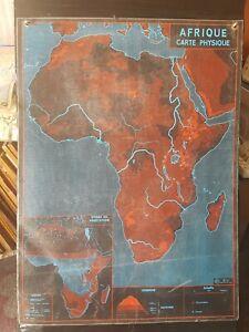Carte pays continent Africain afrique Ancienne affiche scolaire MDI