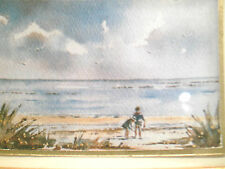 RARE MINIATURE AUSTRALIAN WATERCOLOUR PAINTING SIGNED VIVI PALEGEORGE