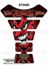 Red Devil Demon Lucifer Motorcycle Tank Pad Tankpad Motografix 3D Gel Protector
