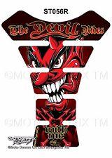 Red Devil Demon Lucifer Motorcycle Tank Pad Tankpad Motografix 3D Gel Protector