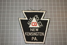 Old Aux. Police New Kensington Pennsylvania Police Department Patch (Used) (T3)