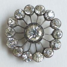 Button Antique - Rhinestone - 1 1/32in - Rhinestone Paste Button