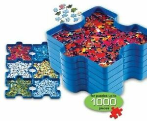 6x Jigsaw Puzzle Sorting Tray Box Container Stackable Trays Sorter For Kids Toys