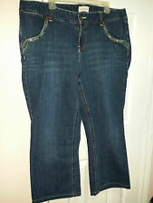 Venezia Women's Embellished Denim Blue Jeans Size 20/22 WC728