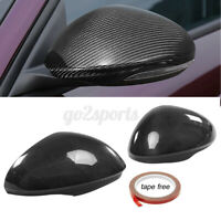 Real Carbon Fiber Side Mirror Cover Cap For Alfa Romeo Giulia Quadrifoglio