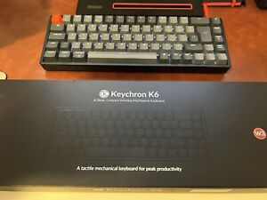 Keychron K6 - brown hot swappable switches - UK ISO - Alumin mechanical keyboard