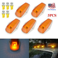 5Pcs Running Roof Top Cab Clearance Lights 194 LED Amber For Ford F150 F250 F350