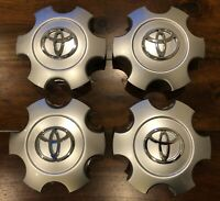 4 Pieces Wheel Center Hub Caps Fits Tundra Sequoia 2003-2007 Silver