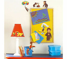 Wall Sticker 20+ pc CURIOUS GEORGE Reusable Children Room Decor NIP