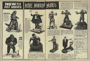 VINTAGE AURORA AD 1965 11x14 / MOVIE MONSTER MODEL COLLECTION HQ DIGITAL PRINT