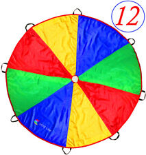 Play Parachute for Kids 12 Foot with 8 Dirt Resistant Handles Parachute Toy
