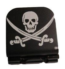 Pirate Jolly Roger Laser Etched Aluminum Hat Clip Brim-it