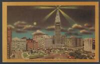 Cleveland Ohio Main Ave Bridge Union Terminal Tower Hotel Lot Two Postcards