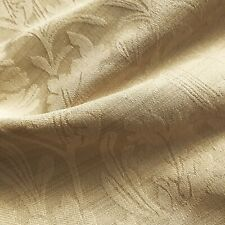 Cream Gold Traditional Vintage French Damask Jacquard Upholstery Fabric 54""