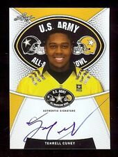 TERRELL CUNEY - Texas Longhorns 2014 Leaf Army TOUR Certified AUTOGRAPH RC