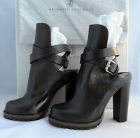 """Brunello Cucinelli Dark Brown HighHeeled 3"""" and up Ankle Boots IT 36-38 US6-8"""
