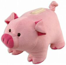 Plush Pig Piggie soft toy Huggie Bank 8 inch by Puzzled Inc #5936