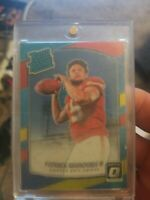2017 Donruss Optic #177 Red/Yellow Prizm Patrick Mahomes Rookie PSA MINT 9