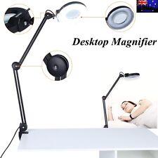 Magnifying Lamp 5 Inch SMD 5 Diopter Magnifier Desk Light Black Color TT