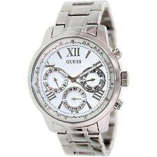 GUESS Women's U0330L3 Sporty Silver-Tone Stainless Steel Multi-function Watch
