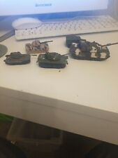 Plastic and metal Toy TANKS x5