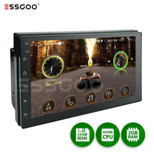 """Double DIN 7"""" Android 10 Car Stereo GPS MP5 Radio Player Bluetooth 2+16GB WiFi"""
