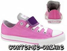 KIDS Girls CONVERSE All Star PINK PURPLE DOUBLE TONGUE Trainers Shoes UK SIZE 11