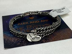 Alex and Ani Eve Wrap Rafaelian Silver Wrap Charm Bangle Bracelet NWT
