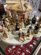 "Charles Dickens Cottage Set (18) Pieces ""A Christmas Carol"" Sebastian Miniatures"