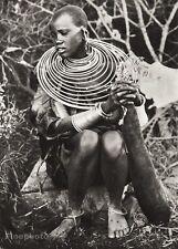 1934 Vintage 11x14 ~ AFRICA ~ Maasai Tribe Native Woman Folk Jewelry Photo Art