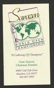 Gene Sarazen Business card  MY21 Golf Legend