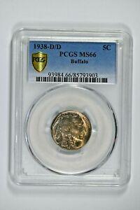 1938-D/D PCGS MS66 Buffalo Nickel - Price Guide $105