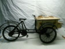 Vintage hand built folk art ice-cream sellers tricycle. Lovely item.