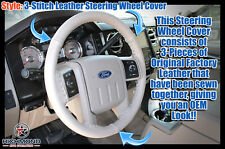 2009 Ford Expedition -GRAY Leather Steering Wheel Cover with Needle & Thread
