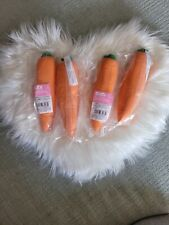 Set of 4 Creatology Stretchy Carrots Squishy Squeeze Toys Easter