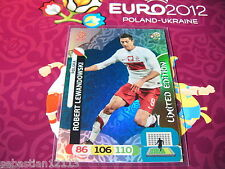 Adrenalyn XL Euro 2012 limited edition Robert Lewandowski